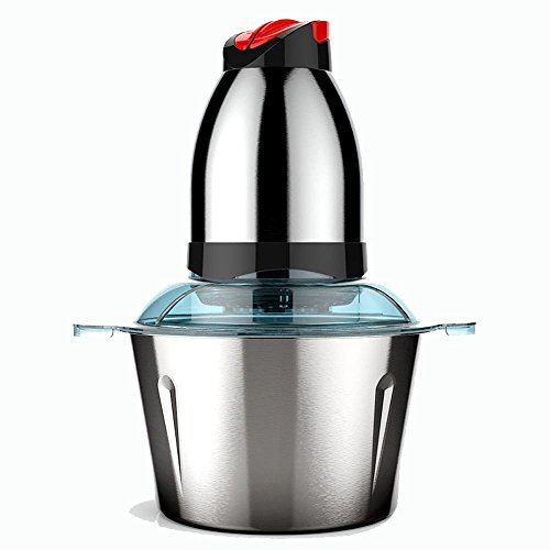 OOFYHOME Electric Food Processor Meat Grinder, Blender and Mincer-Multipurpose Food Chopper 304 Stainless Steel 2L