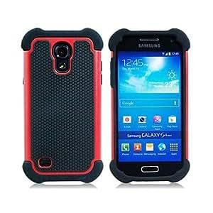 ZL H¨ªbrido Heavy Duty Rugged Hard y Soft Volver Funda para el Samsung Galaxy S4 Mini I9190(Assorted Colors) , Red