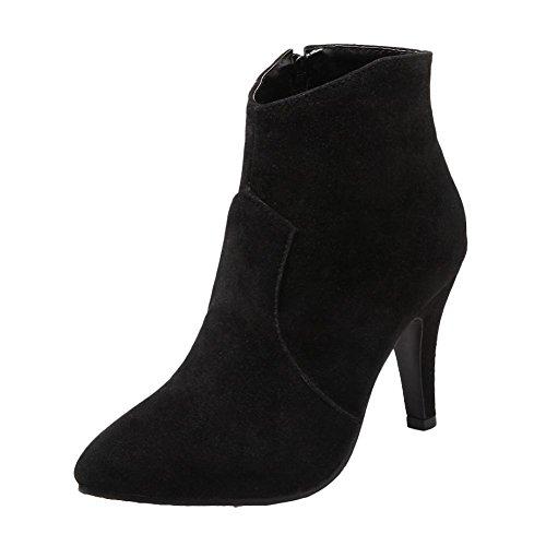 Caviglia Con Neri Alti Womens Shoes Tacco Alla Sexy Stivali Mee Alto 0Y7vBB