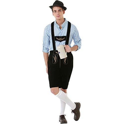 Oktoberfest Lederhosen Adult Mens Halloween Dress Up Theme Party Cosplay Costume