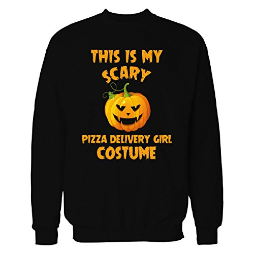 This Is My Scary Pizza Delivery Girl Costume Halloween Gift - Sweatshirt Black (Pizza Delivery Boy Halloween Costume)