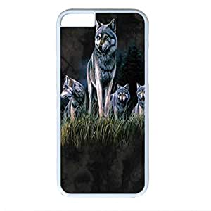 Brown Night Wolf Custom Back Phone Case for iphone 6 4.7 PC Material White -1218399
