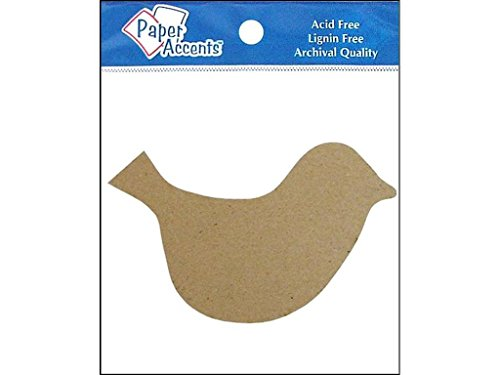 Accent Design Paper Accents Chipboard 8pc NAT Chpbrd Shapes Bird