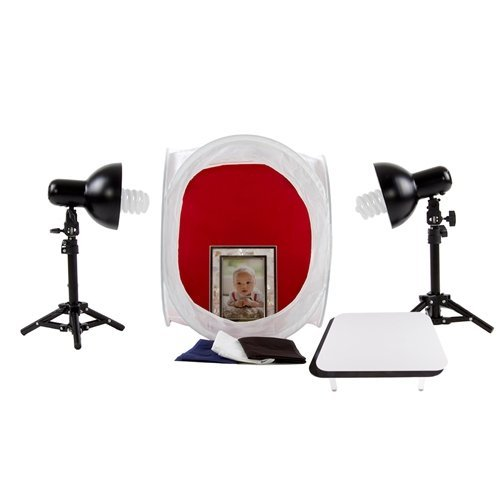 Fovitec StudioPRO Table Top Retail Lighting Tent  Backgrounds, Display Table, Lights Kit by Fovitec