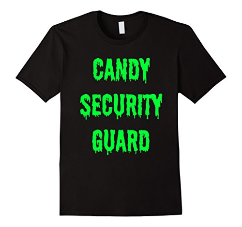 Mens Candy Security Guard Shirt | Halloween Costumes for Parents Medium (Security Guard Costume Male)