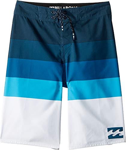 Billabong Kids Boy's Midway Stripe Boardshorts (Big Kids) Blue 26 (12 Big ()