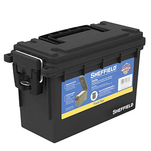 Sheffield Plastic Field Utility Boxes, 30 Caliber Ammo Storage Can