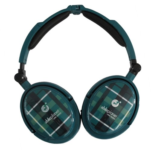 Able Planet XNC230 Extreme Foldable Noise Canceling Headphones (Green (Able Planet Headphones)