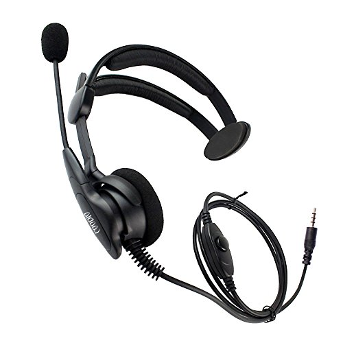 Coodio 3.5mm Smartphone Over-the-Head Headset [Swivel Boom Microphone] [Noise Cancelling] Headphone [Adjustable Headband] For Cellphone, Gaming, Pc Computers, Bodyguard, Creative Christmas Gift