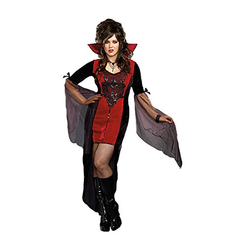 Sexy Plus Size Vampire Costumes (Dreamgirl Women's Killing Me Softly Costume, Black, 1X/2X)