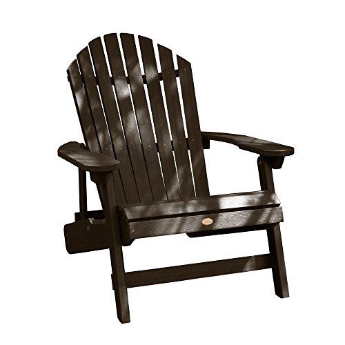 Highwood AD-KING1-ACE Hamilton Adirondack Chair, King, Weathered Acorn ()