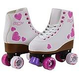 Roller Skates for Girls Size Pink Hearts for