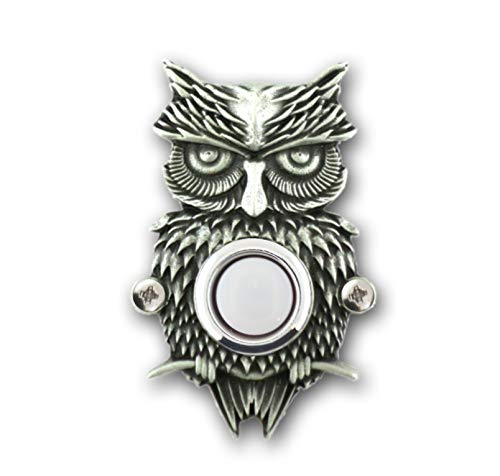 (Grumpy Owl Doorbell Button)
