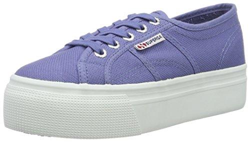 Linea Superga De Acotw Haut Et En Bas Sneaker Damen Blau (velours Bleu)