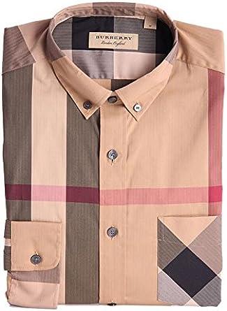 Burberry - Camiseta de manga larga - para hombre camel L: Amazon.es: Ropa y accesorios