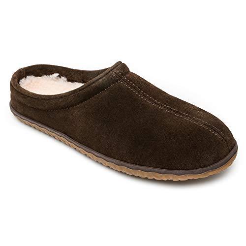 Minnetonka Men's Taylor Suede Indoor and Outdoor Slippers