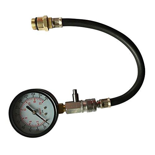 Professional Engine Cylinder Compression Test Tool Kit 0-300 PSI Pressure Tester Gauge Set