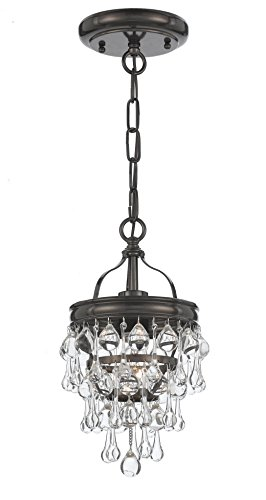 Lighting Heart Transitional Chandelier (Crystorama 131-VZ Crystal One Light Ceiling Mount from Calypso collection in Bronze/Darkfinish,)
