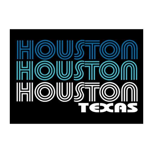 "Idakoos Houston Retro Color Sticker Pack x4 6""x4"""