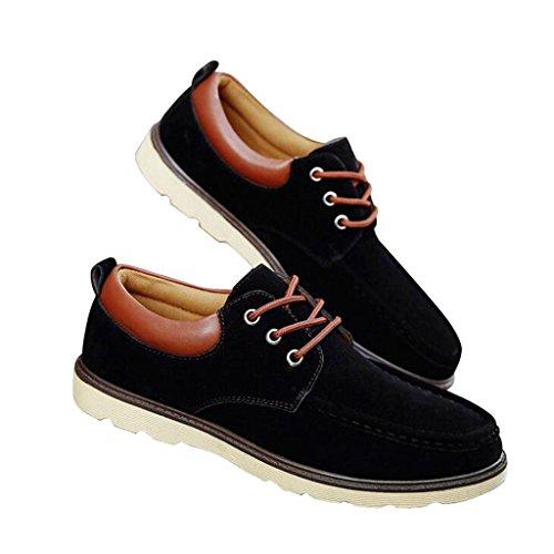 Geachte Tijd Mannen Lace-up Mode Sneaker Zwart