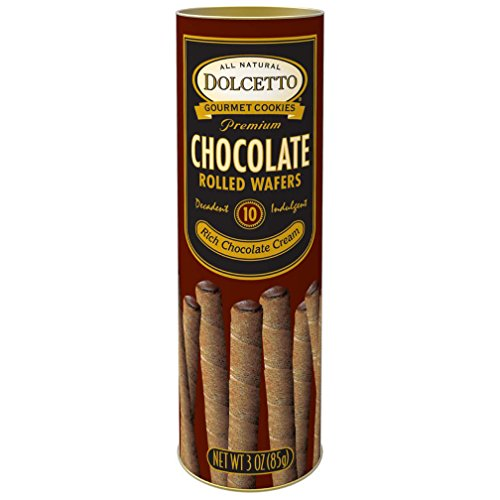 Classic Dolcetto Gourmet Chocolate Rolled Wafers With Rich Chocolate Cream