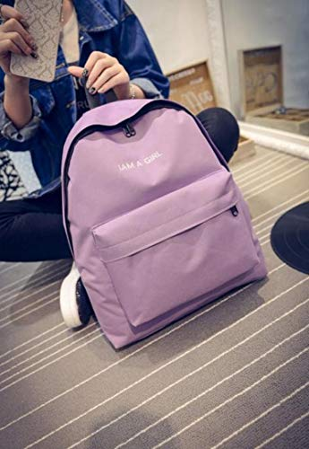 Backpack Fashion Rucksack Shoulder Book Daypack Unisex Girls School Vpass Purple Bag Boys Canvas Teenage qg8A80