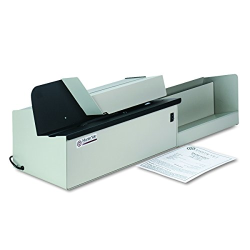 Electric Letter Opener Automatic - Martin Yale 62001 Deluxe High-Speed Letter Opener, Gray, Up To 17,500 Envelopes per Hour, Accepts a 6