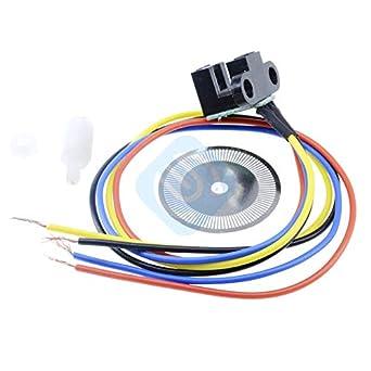 Lufasa 5V Photoelectric Speed Sensor Encoder Code Disc Disk