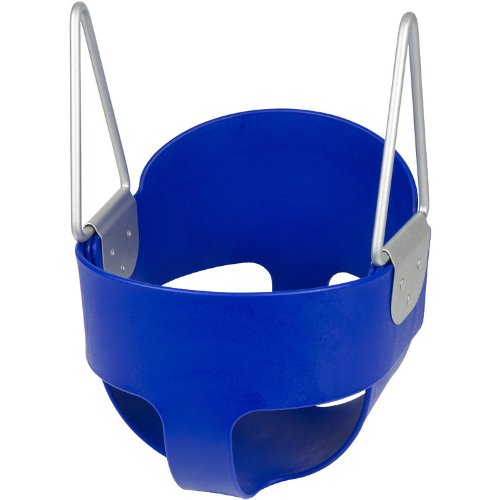 Swing Set Stuff Highback Full Bucket (Blue) -Seat Only- with SSS Logo Sticker