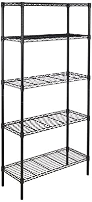AmazonBasics 5-Shelf Shelving Unit on 4'' Casters
