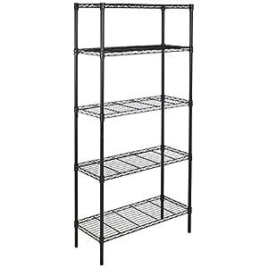 AmazonBasics 5-Shelf Shelving Unit - Black