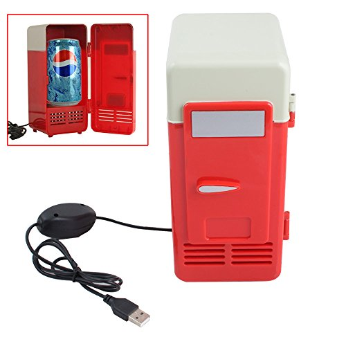 Zorvo Mini USB Fridge Cooler Beverage Drink Cans Cooler/Warmer Refrigerator Laptop PC