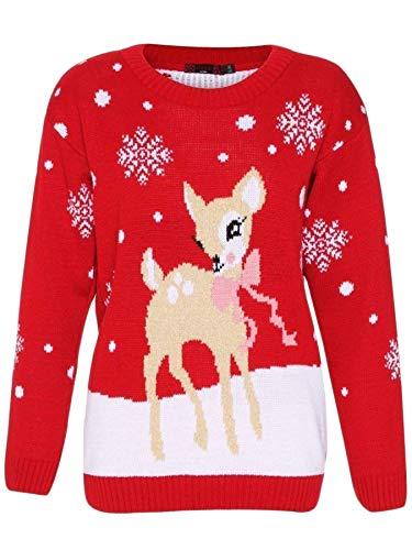 Deer My Mujer Para Fashions Love Red Jerséi Túnica Ywdy4q