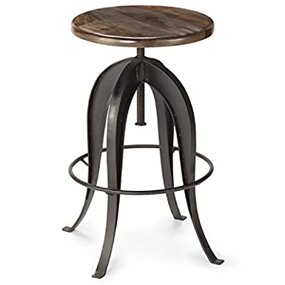 Steve Silver Sparrow Adjustable Bar Stool in Russet