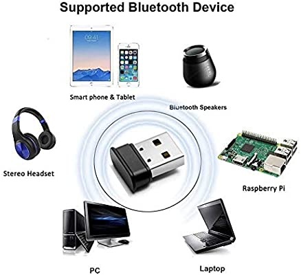 Bluetooth USB PC,Adaptador Bluetooth 5.0 USB Dongle,Bluetooth Transmisor y Receptor para PC/TV/Coche/Hogar, Auriculares, Teclado, Mouse y más (marrón): Amazon.es: Electrónica