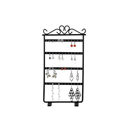 Jewelry Display Earring Holder (AIFUSI Jewelry Organizer 4 Floor Earrings Holder Rack Jewelry Show Display Organizer for Hanging Earrings(Black))