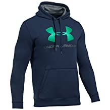 Under Armour Men's Rival Fitted Graphic Hoodie, Midnight Navy/Graphite, Medium