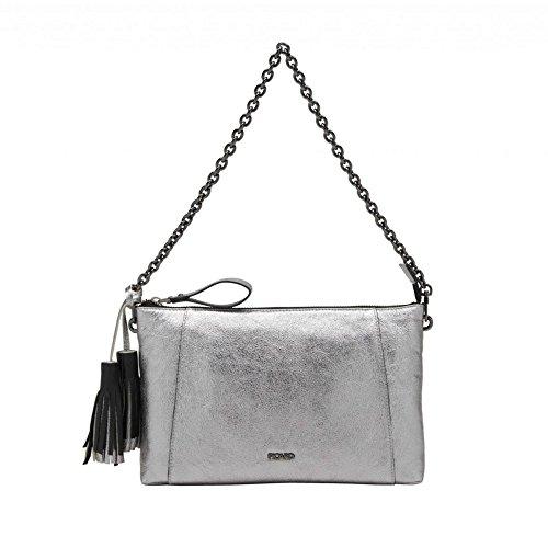Picard 4427 Mercury Damen Tasche Glattleder Diverse Fächer Verstellbarer Riemen, Groesse OneSize, Silber