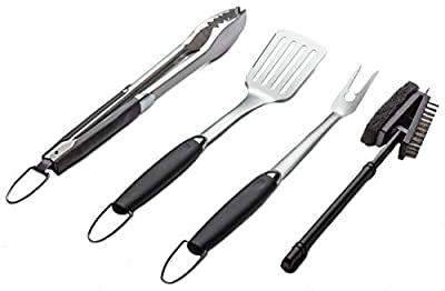 Simplistex / 4 Piece BBQ Tool Set for Outdoor Barbecue Grilling by BAFX Products