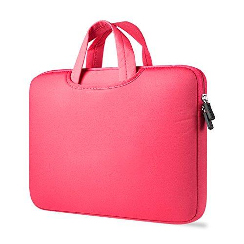 Protectora Del Bolso De Netbook Maletin De Ordenador Portatil Funda Portatil De Transporte Para Laptop Rose