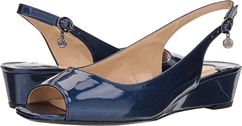 J. Renee Women's Alivia Pump, Navy Metallic, 7.5 M US ()