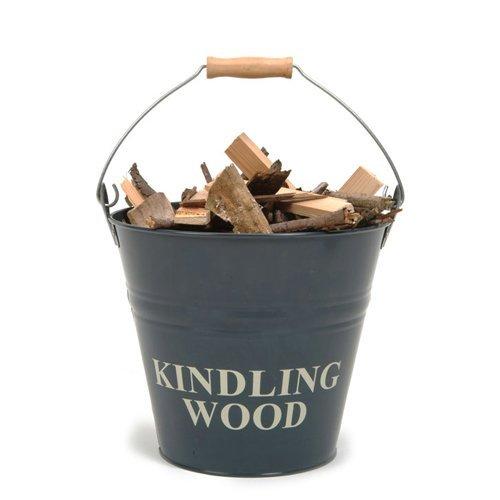 Fireside Kindling Bucket - Slate Colour by Garden Trading