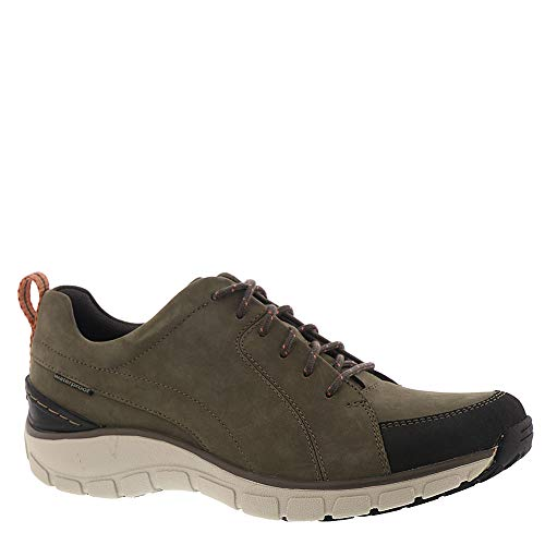 CLARKS Womens Wave Go Walking Shoe, Taupe Nubuck/Leather Combi, Size 9.5