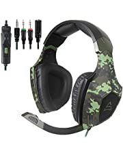 [L'ultima Versione Cuffie Gaming per PS4] Sades SA810 Cuffie da Gioco con Microfono Stereo Bass Regolatore di Volume per PS4 PC Xbox One MAC iPad iPod iPhone(Bianca)