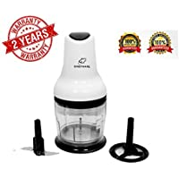 Chefware Polo Electric 300 watt Vegetable and Fruit Chopper, 300W Copper Motor, White and Black