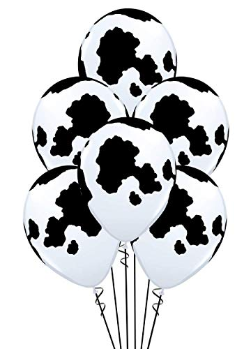 - Qualatex Holstein Cow Print Biodegradable Latex Balloons 11-Inches Round (20-Units)