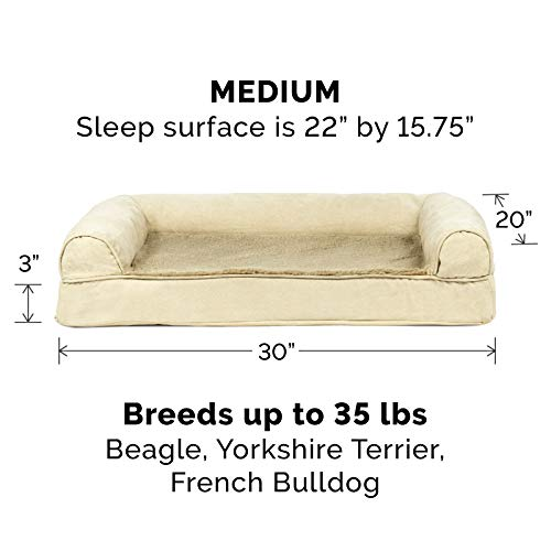 Furhaven Pet - Plush Orthopedic Sofa, L-Shaped Chaise Couch, Calming Donut Dog Bed, Packable Travel Dog Bed with Stuff Sack and More for Dogs and Cats - Multiple Styles, Sizes, and Colors