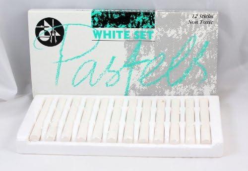 Jakar Pastellkreiden–Weiß (12Stück)