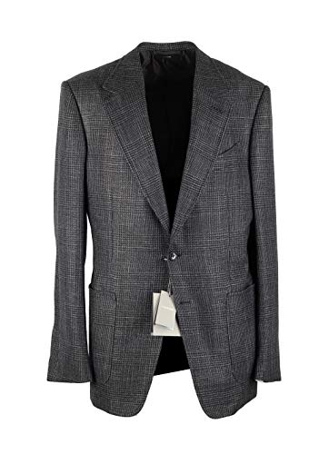 - CL - Tom Ford Shelton Checked Gray Sport Coat Size 50 / 40R U.S. in Cashmere Silk