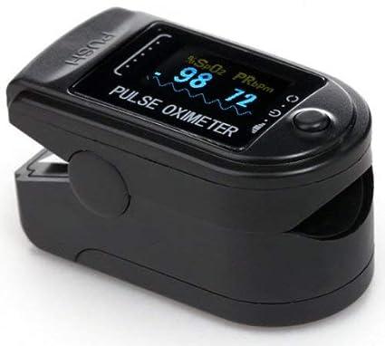 AVAX 50D - Oximetro de Pulso - %SpO2 (saturación de oxígeno en la sangre) y el Monitor de Ritmo Cardíaco - display OLED en color con 6 modos y 4 mostrar ...